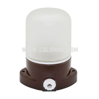 E27 Porcelain lighting fixtures in brown color