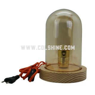 E27 wooden table light