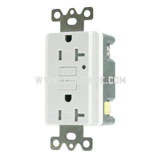 20-AMP SELF-TEST WEATHER RESISTANT AND TAMPER-RESISTANT GFCI OUTLET