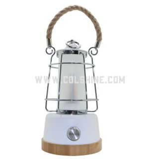 White dimmable led camping lantern rechargeable with USB and power bank
